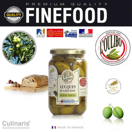 Culinaris - L'Oulibo Oliven grün - Lucques Nature 380 g