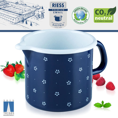 Riess - Emaille - Schnabeltopf - 12 cm - 1,0 L