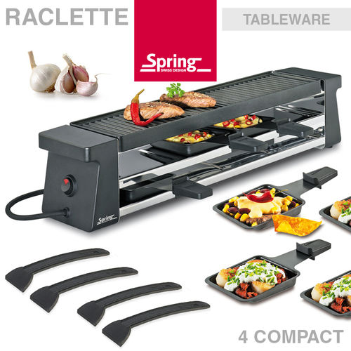 Spring - Raclette 4 Compact - Black