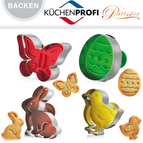 Küchenprofi - Cookie cutter Easter, Set of 4