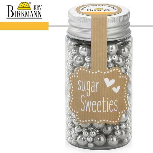 RBV Birkmann - Sugar Decorations Bead Mix silver 4 / 8mm