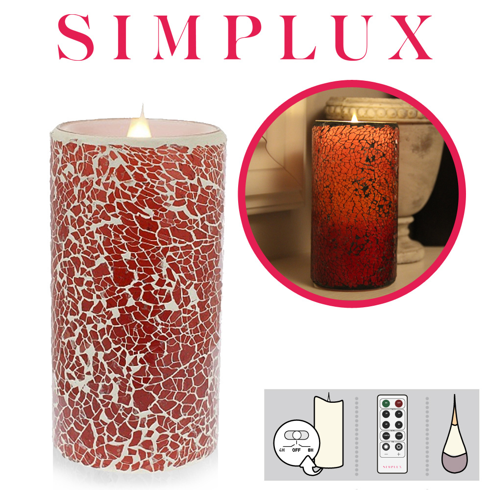 Simplux - Cracklé Glass - Red