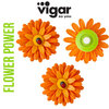 Vigar - Magnet 3er Set Orange Flower Power 3-pc.