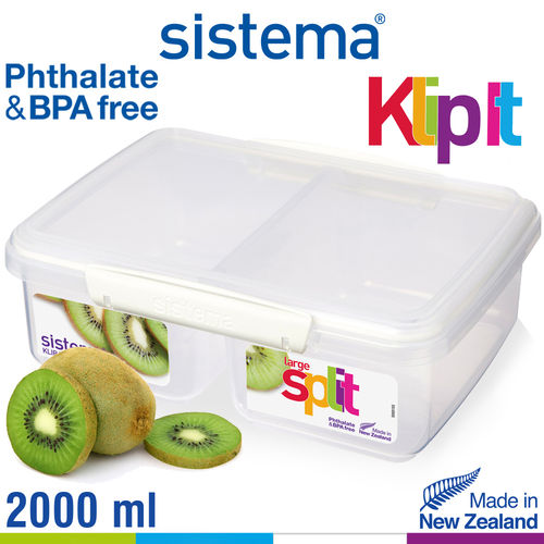 sistema - Klip It Frischhaltedose Split - 2000 ml