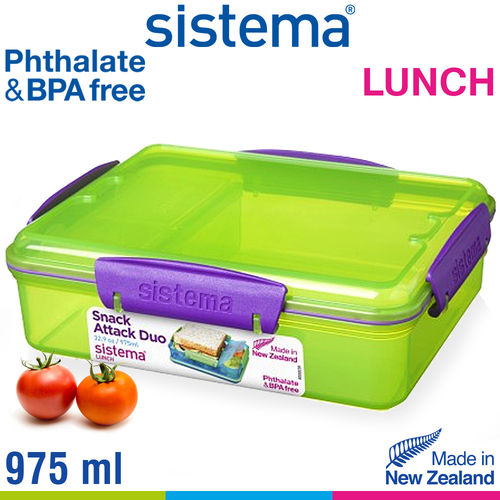 sistema - Snack Attack Duo Lunch - 975 ml