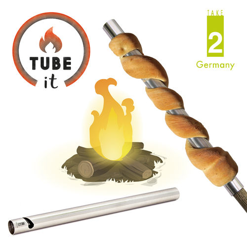 "Take2 - ""Tube-it"" set of 2 bread on grill tube"