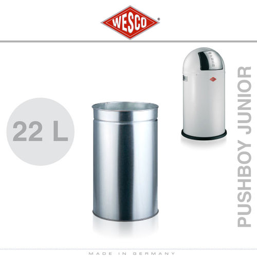 Wesco - Einsatz 22 Liter Metall - Pushboy Junior