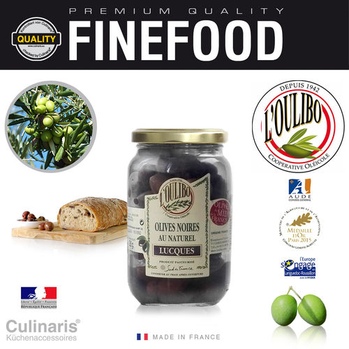 Culinaris - L'Oulibo Oliven schwarz - Lucques Nature 380 g