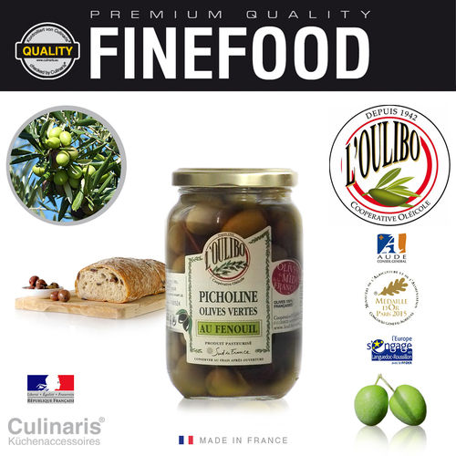 Culinaris - L'Oulibo Oliven Fenchel - Lucques Nature 380 g