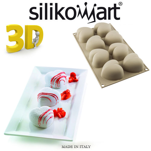 Silikomart - Backform 3D Cuoricino 8er Form