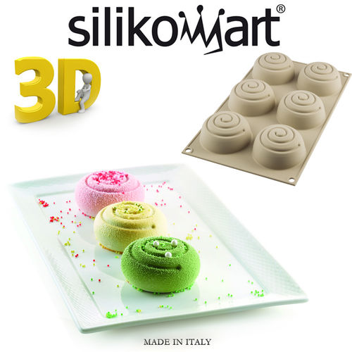 Silikomart - Backform 3D Mini Girotondo 6er Form