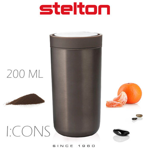 Stelton - To Go Click - Mug 200 ml - Dark brown Metallic