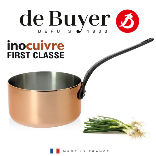de Buyer - Copper Saucepan with cast iron handle - First Classe