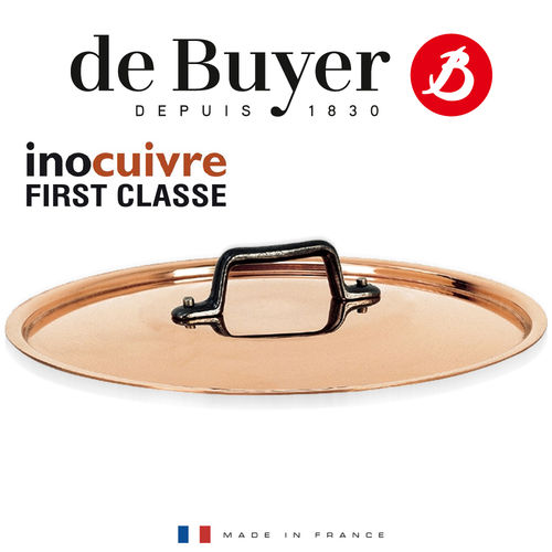 de Buyer - Round Lid in copper with cast Iron handle