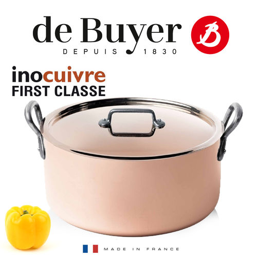de Buyer - Round stewpan with lid - Cast Iron handles