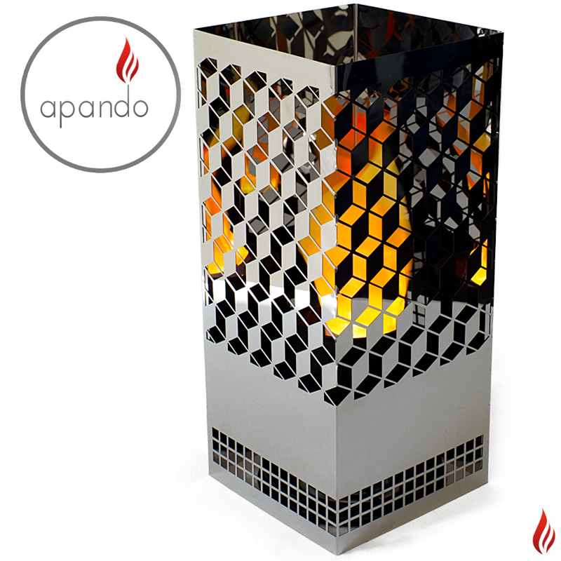"Apando - Flame light ""Square Brazier"" - Diamonds"