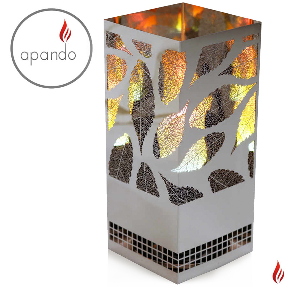"Apando - Flame light ""Square Brazier"" - Leaf"