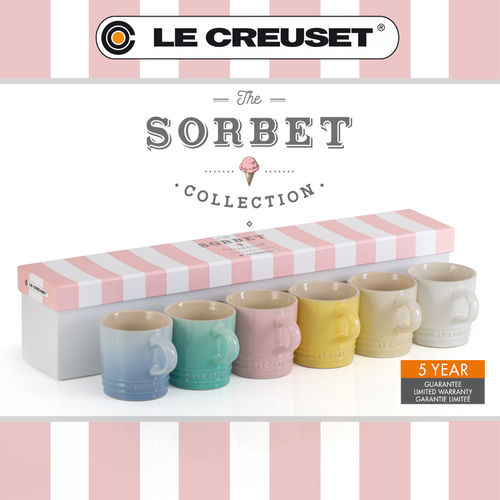 Le Creuset - Set of 6 small cups 100 ml sorbet