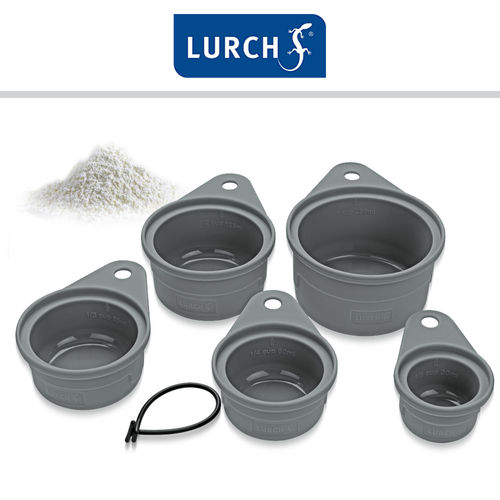 Lurch - Messbecher Set Silikon 5teilig
