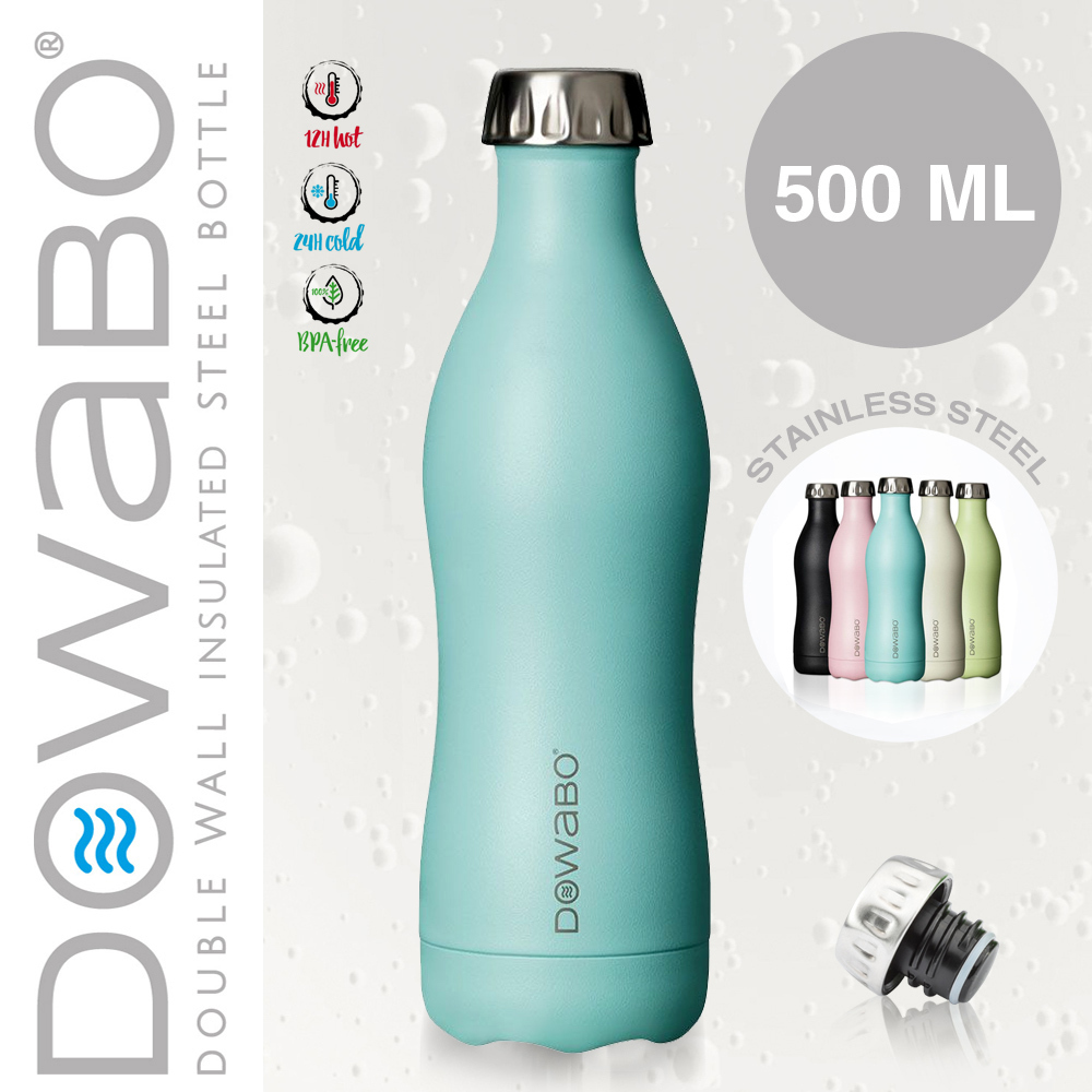 Dowabo - Double Wall Insuladet Bottle - Swimming Pool 500 ml