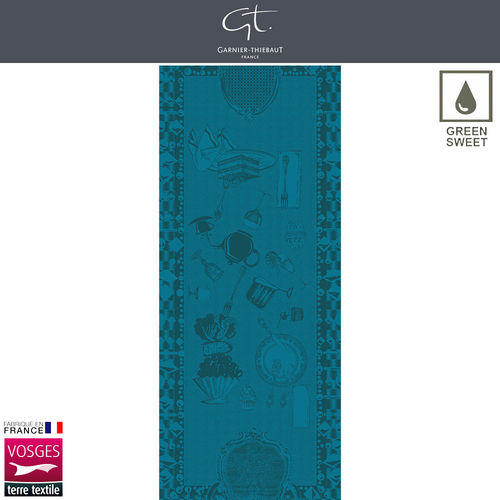 Garnier Thiebaut Table Runner - Entre Amis Bleu Canard