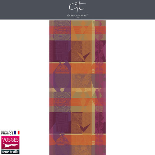 Garnier Thiebaut Table Runner - Mille Tingari Terre rouge