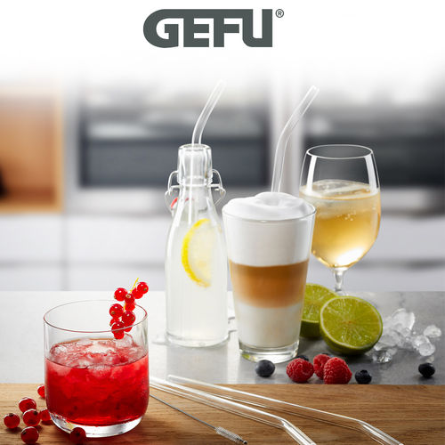 Gefu - Glass drinking straw FUTURE transparent