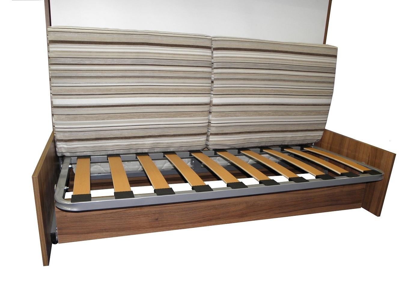 Wandbett mit sofa wbs 1 classic 140x200 cm holzfarbe wei - Wandbett mit sofa ...