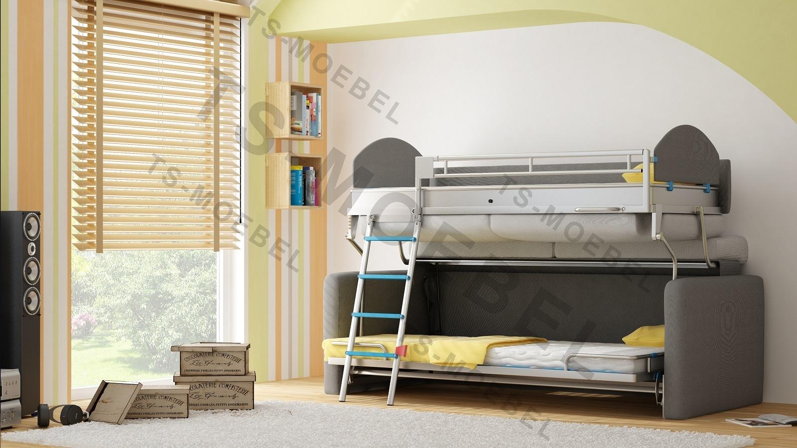 Attraktiv TS Möbel Wall Bed Duo Sofa Mit Etagenbett Inkl.