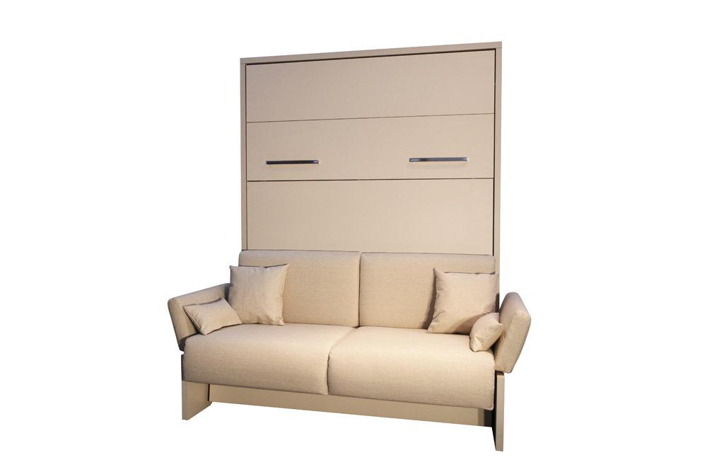 Terrific Ts Mobel Wandbett Mit Sofa Wbs 1 Soft 160 X 200 Cm In Weiss Interior Design Ideas Greaswefileorg