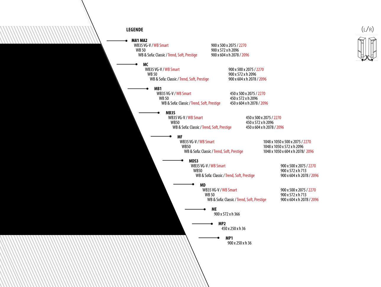 TS Möbel Modul Kleiderschrank M-A1 50- für alle Wandbetten möglich in Weiß