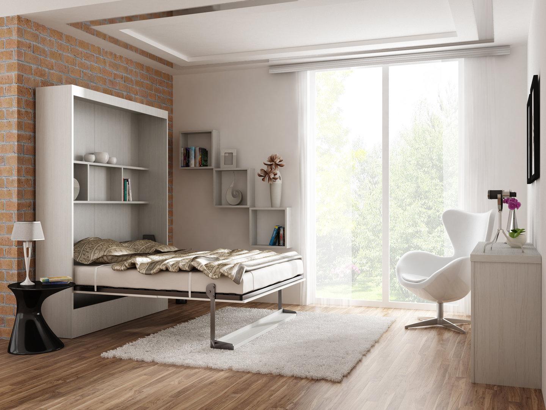 TS Möbel Wandbett Leggio 160 x 200 cm Whitewood 42 cm Tiefe