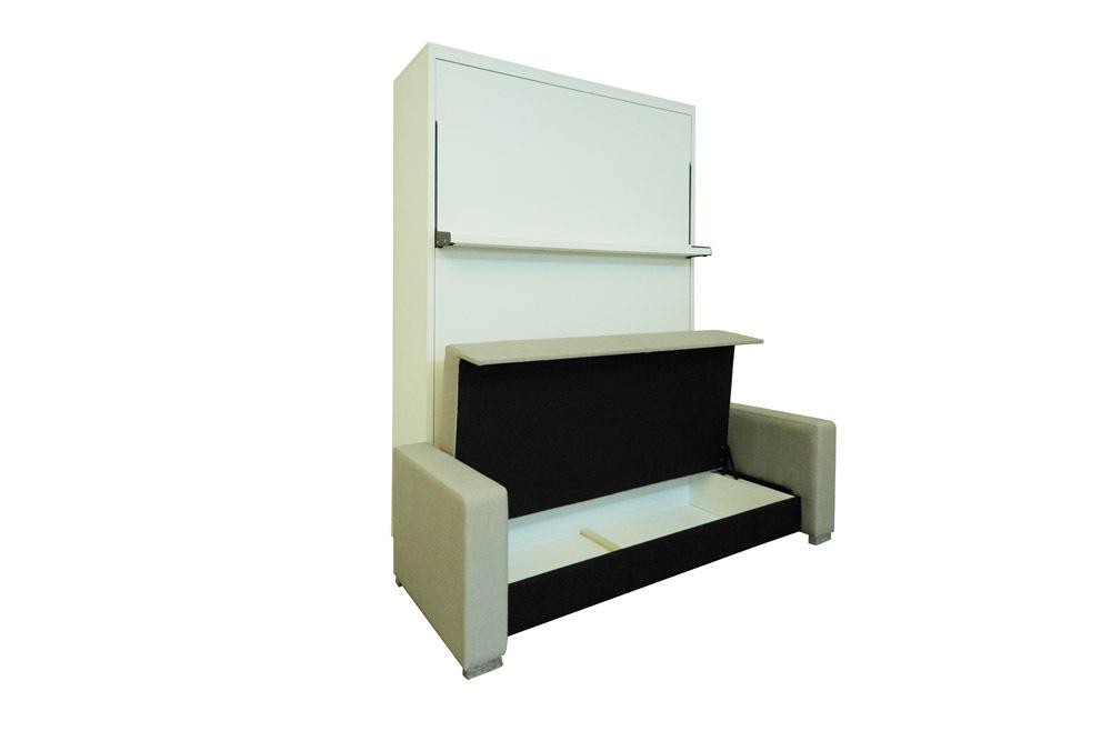 Wandbett mit sofa ecke leggio linea lw 160 x 200 cm whitewood - Wandbett mit sofa ...