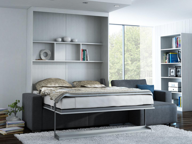 Wandbett mit Sofa Ecke Leggio Linea LW 160 x 200 cm Whitewood