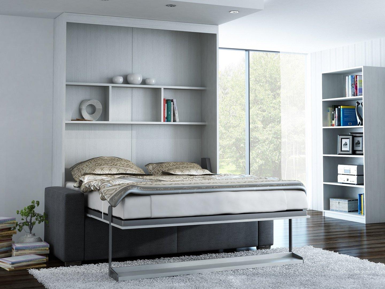 Wandbett mit sofa leggio linea std 160 x 200 cm whitewood - Wandbett mit sofa ...