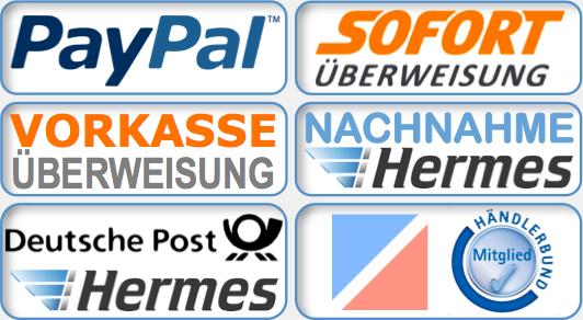 Widerrufsrecht / Versand / Zahlungsarten - Wichtige Kundeninformationen