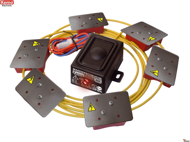 Elektroschock-Platten M186 KEMO Elektro-Schock Marderscheuche Marderabwehr Marderschutz 12V//DC m