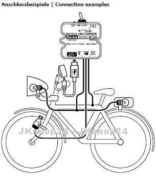 E-Bike contrôle de charge m172n usb-a Micro chargeur smartphone Navi téléphone portable mp4 fon Vélo