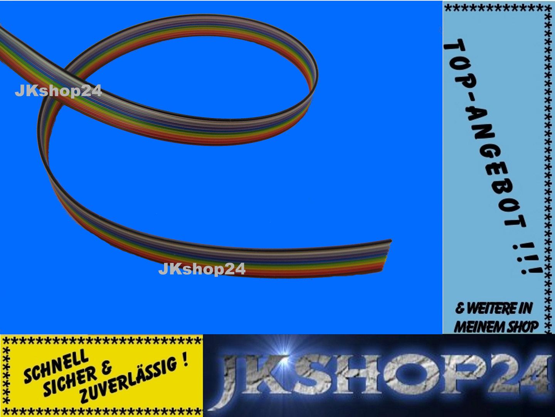 20 M-bobina a nastro linea 10-vene//Pole Cavo Piatto Nastro Cavo awg28 IEC colorate