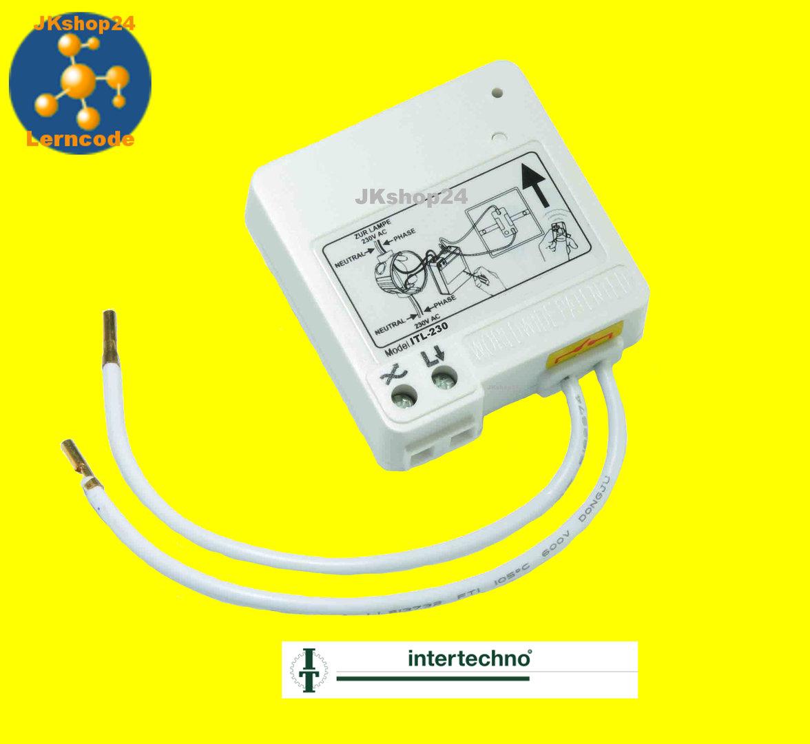 ITL-230 Funk-Modul EIN/AUS f.Lampen,el.Trafo,Halogen Intertechno ...