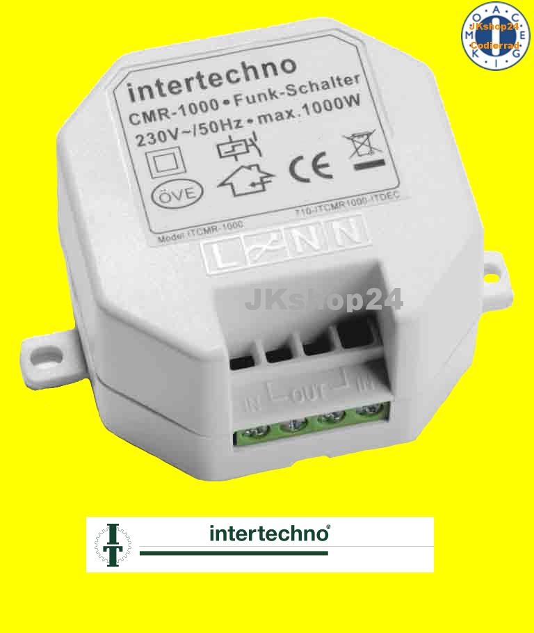 intertechno cmr 1000 funkschalter funk ein aus schalter led gl h lampen esl etc ebay. Black Bedroom Furniture Sets. Home Design Ideas