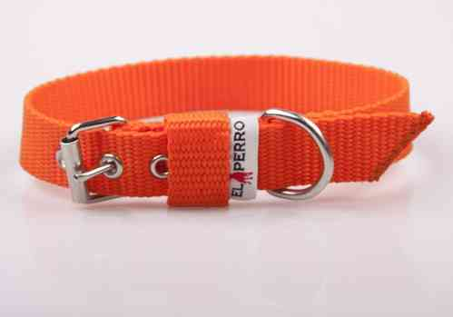 El Perro Juicy Halsband 2,5cm Orange