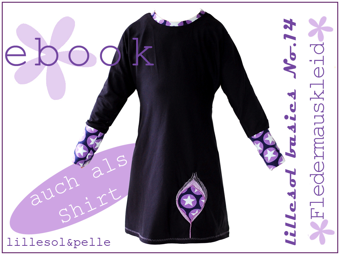 Ebook / Schnittmuster lillesol basic No.14 Fledermauskleid