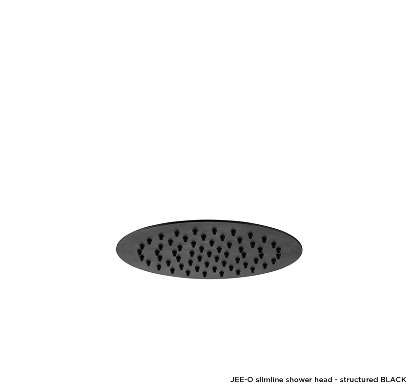 JEE-O slimline shower head - structured BLACK