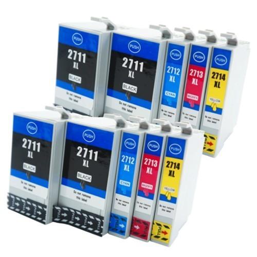 10x kompatible Tintenpatronen DruckerTintenpatronen für Epson-Drucker (ersetzen T2711, T2712, T2713, T2714 und T2701, T2702, T2703, T2704)