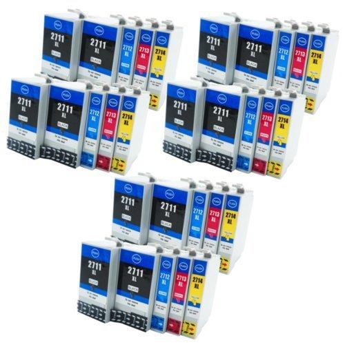 30x kompatible Patronen für Epson-Drucker (ersetzen T2711, T2712, T2713, T2714 und T2701, T2702, T2703, T2704)