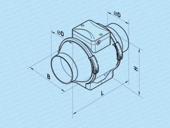 Rohrventilator KTT für Rohr-Ø 100, 125, 150