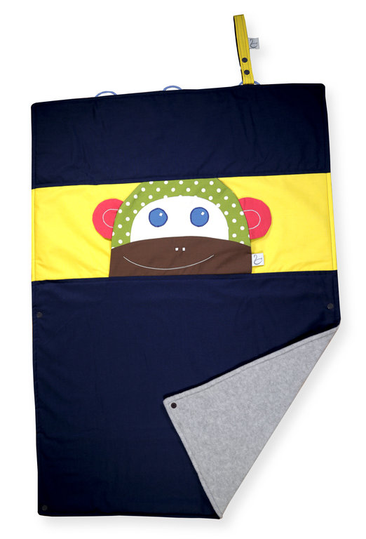 KIDS BLANKET MONKEY ALVINA