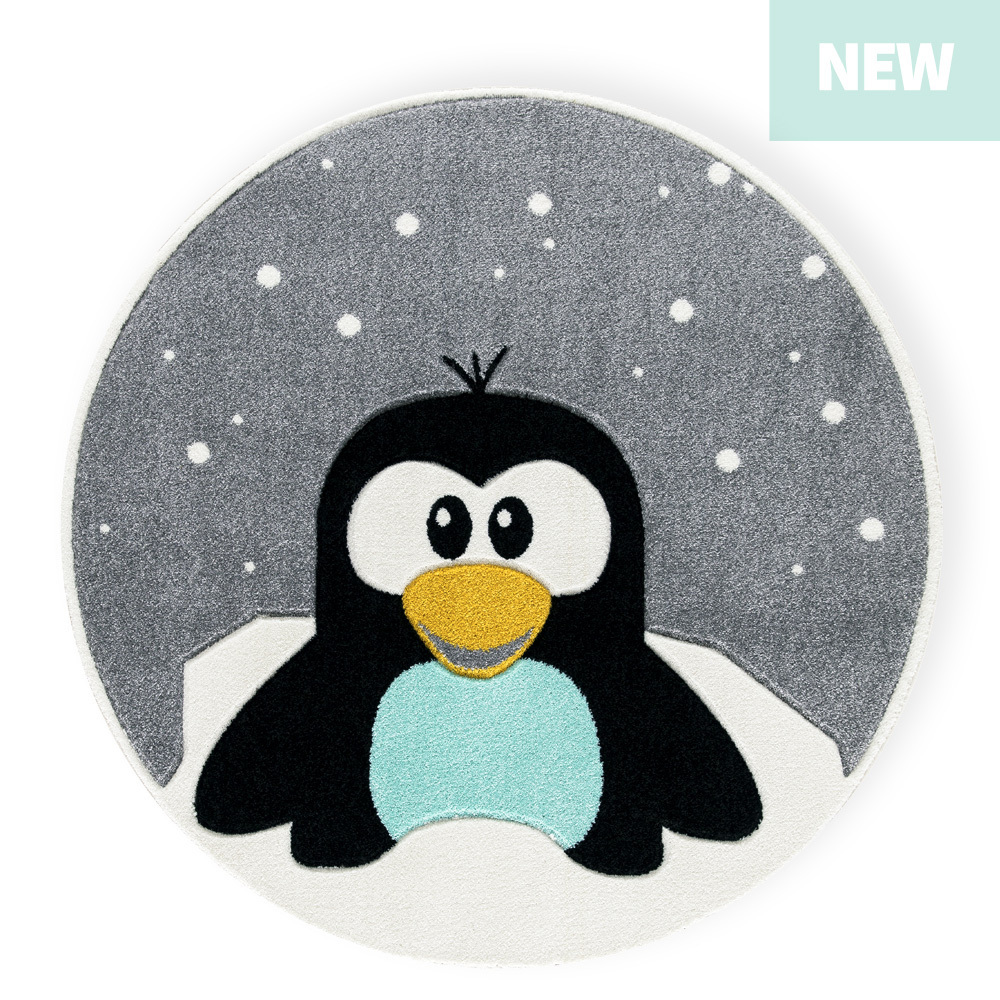 KIDS RUG PENGUIN ELLIOT round