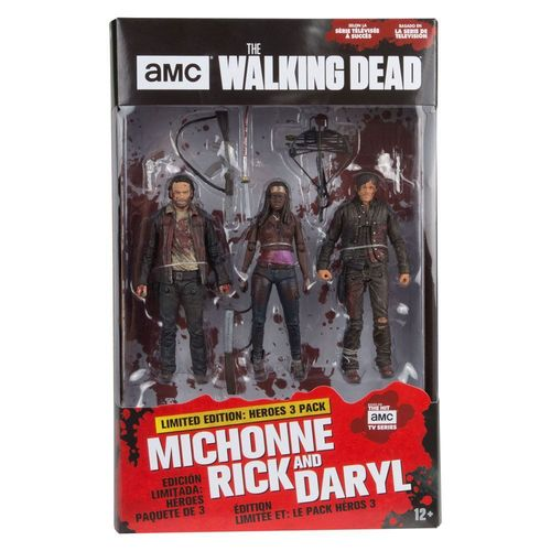 The Walking Dead TV Version Actionfiguren 3er-Pack Heroes 13 cm